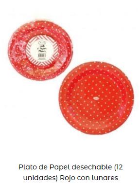 día de san Valentín platos rojo mesa decoración