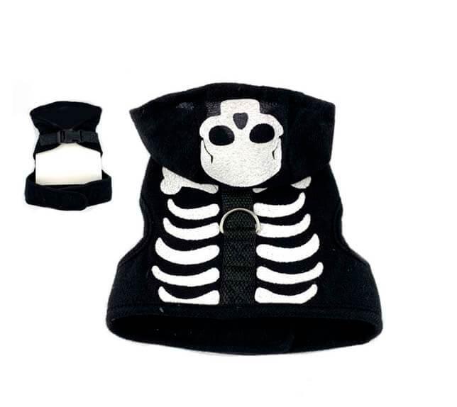 disfraz de gato esqueleto