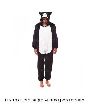 disfraz de pijama de gato para adultos