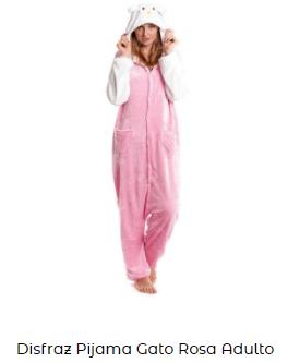 disfraz de gato mujer hello kitty de pijama