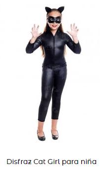 disfraz de catwoman niña