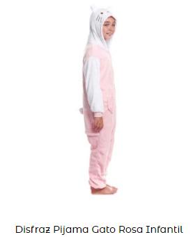 disfraz de gato niña hello kitty de pijama