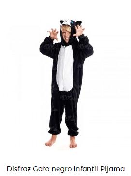disfraz de pijama de gato para niños