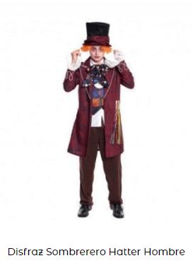 disfraz sombrerero loco hombre Alicia en el país de las maravillas