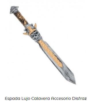 disfraz vikings espada calavera