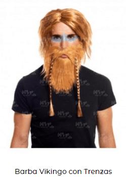 disfraz vikings peluca barba