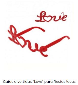 gafas románticas love día de los enamorados