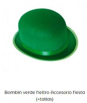 sombrero san patricio bombín verde