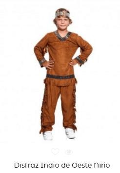 disfraces padres e hijos indios