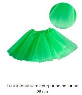 disfraces fiesta san patricio falda tutu niña verde