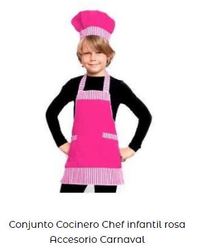 disfraz conjunto cocinero para niños