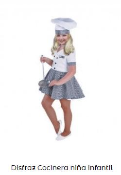 disfraz de cocinero para niñas