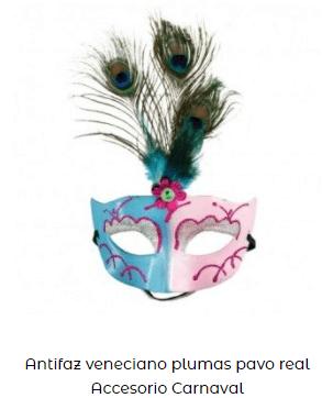 romeo y Julieta fiesta antifaces disfraces pluma