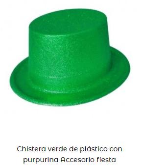 sombrero san patricio copa verde