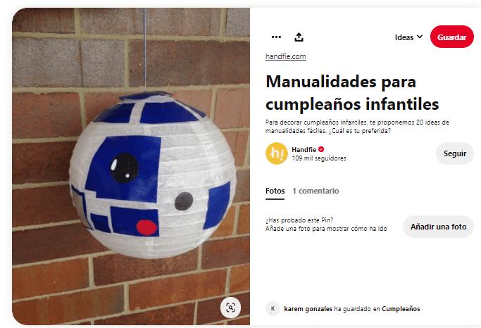 decoración C3PO star wars caseros