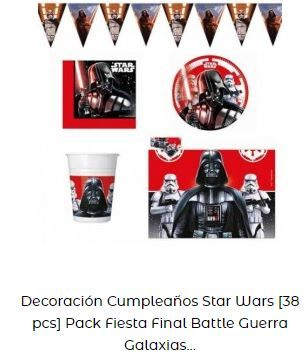 decoración star wars kit