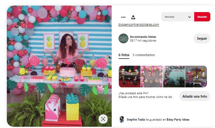 decoración cumpleaños flamencos rosas