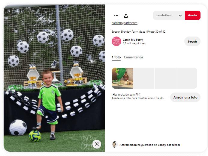 decoración cumpleaños fútbol