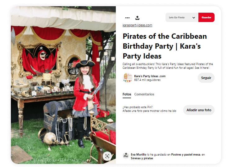 decoración cumpleaños piratas