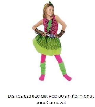 día de la danza disfraz años 80 niña Madonna rock
