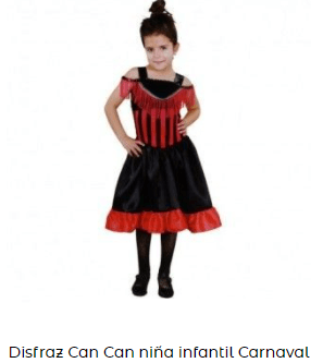 día de la danza disfraz años 30 niña cancán