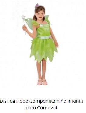disfraces de películas infantiles campanilla peter pan