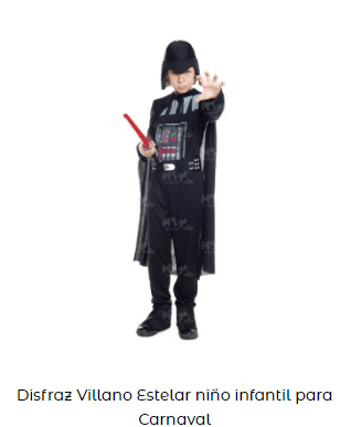 disfraces de star wars darth vader