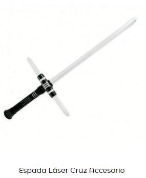 disfraces de star wars espadas láser blanca