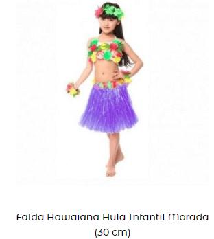 disfraces día de la danza para bailar hawaiana niña falda