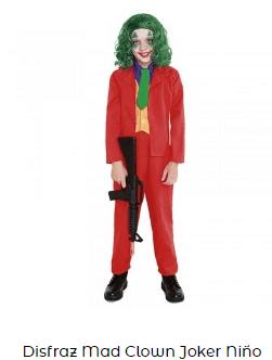 disfraces películas de terror joker