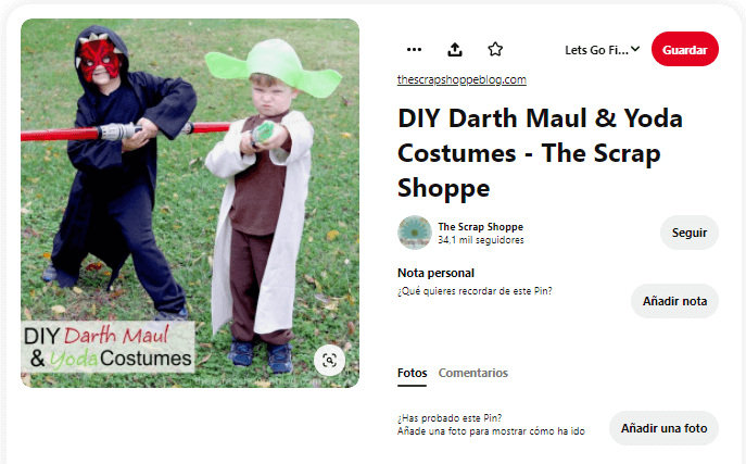 disfraces de Star Wars caseros