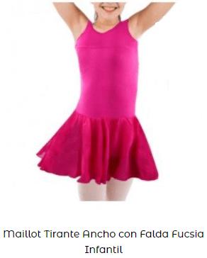 maillot danza ballet niña  tutú rosa