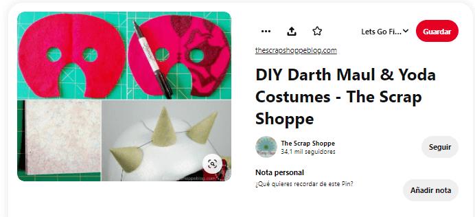 máscara disfraz darth maul
