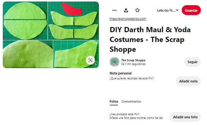 máscara disfraz yoda