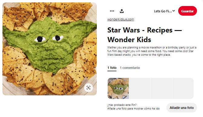 recetas para el día de la fuerza star wars
