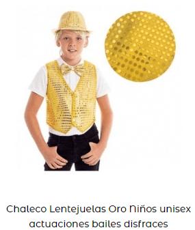 ropa baile moderno chaleco niño