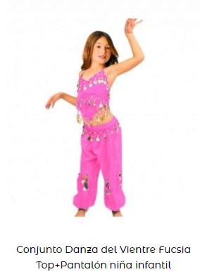 ropa para baile danza vientre niña pantalón