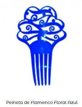 cómo poner peineta flamenca azul