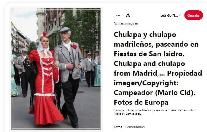 chulapa y chulapo san isidro