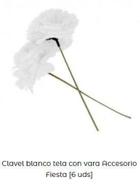 claveles blancos chulapa tela