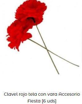 claveles rojos chulapa tela