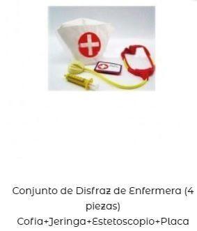 conjunto accesorios de enfermeras niños