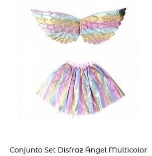 conjunto ángel para bautizo disfraz multicolor