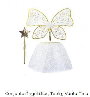 conjunto ángel para bautizo disfraz