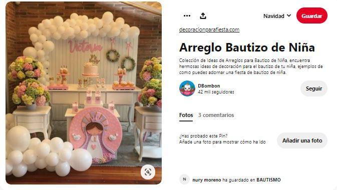 decoraciones para bautizos sencillos en casa con globos niña