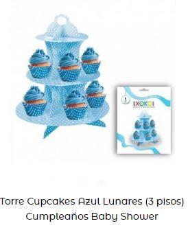 decoración candy bar azul torreta