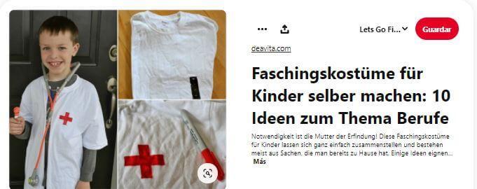 disfraz casero enfermero niños enfermera