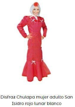 disfraz chulapa mujer rojo