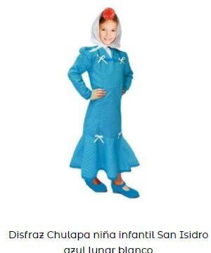 disfraz chulapa niña azul