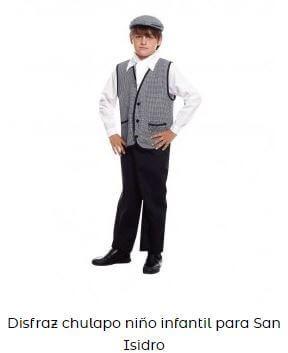 disfraz chulapo niño infantil